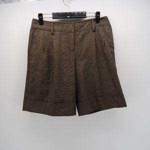 Ann Taylor LOFT Flat Front Bermuda Dress Shorts